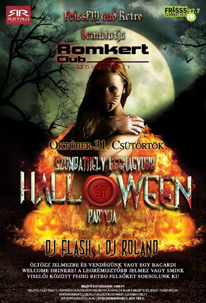Frisss FM Halloween Party a Romkertben!